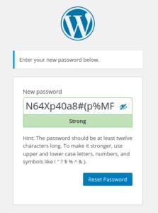 WordPress Admin Password Reset